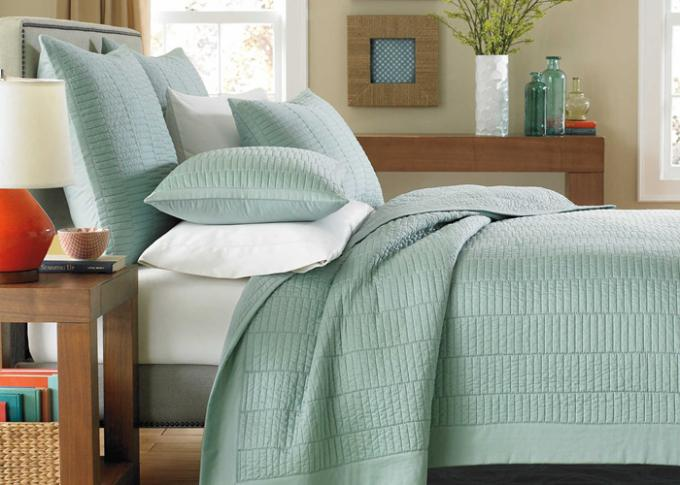 European Style Cotton Full Size Bed Quilt , Real Simple 3Pcs King Size Bed Quilts