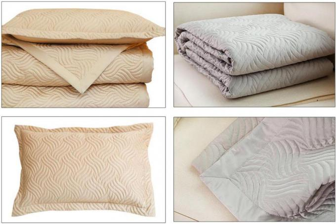 100% Cotton Waves Embroidered Full Size Bed Sets Real Simple 4 Pcs For Home