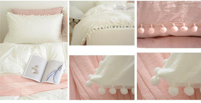100% Cotton Home Modern Duvet Covers And Shams 4Pcs Cute Color Optional
