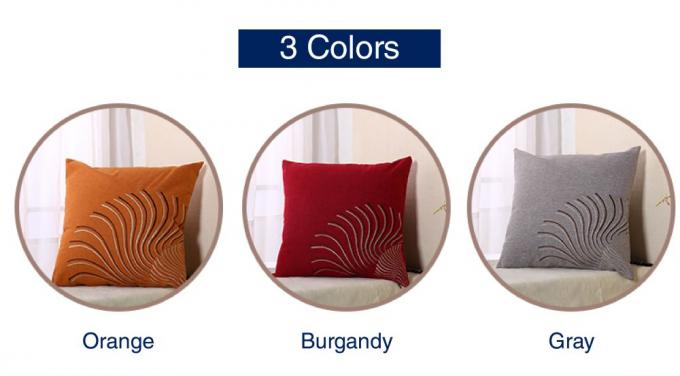 100% Linen Decorative Cushion Covers Free Style Pattern Embroidered Throw Pillows