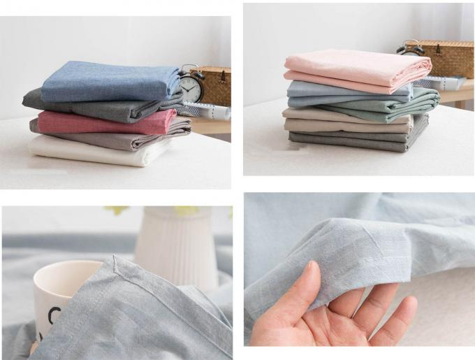 Modern Style Luxury Linen Sheet Set / Duvet Covers 4Pcs Machine Washable