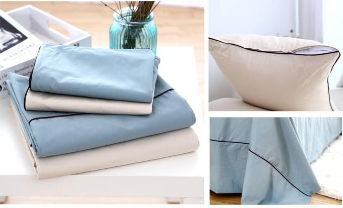 100% Cotton Luxury Sheet Sets 3 Pcs Multiple Colors Lightweight Fabric