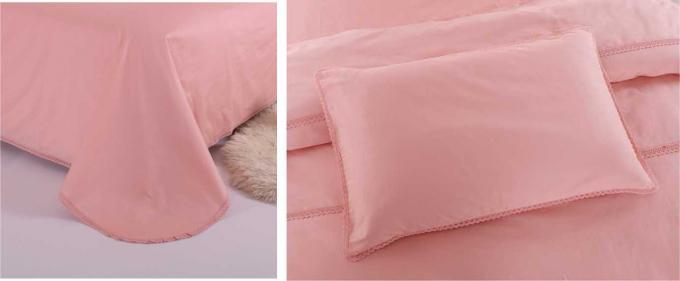 Multiple Colors Luxury Bed Sets , 3 Pcs Lightweight Fabric Softest Cotton Sheets