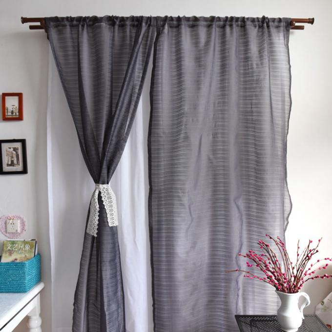 Elegant Multiple Colors Modern Window Curtains Lightweight Fabric For Living Room