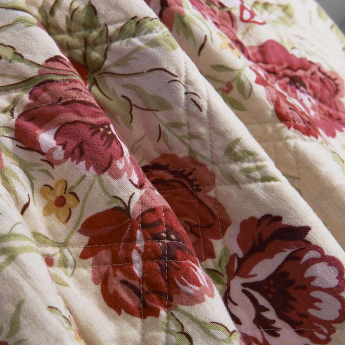 White Quilted Bedspreads And Coverlets 3pcs Printed Machine Quilting