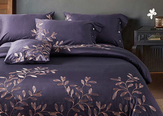 China Leaf Pattern Beautiful Bedding Sets 4Pcs , 100 Percent Cotton Bedding Sets supplier