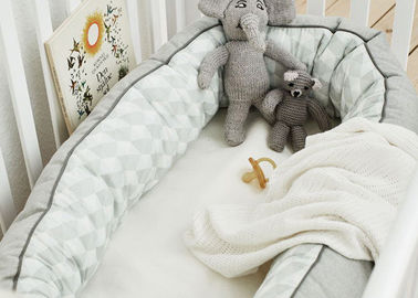 China 100% Cotton Cuddle Nest Baby Crib Bedding Sets Comfortable Color Customized supplier