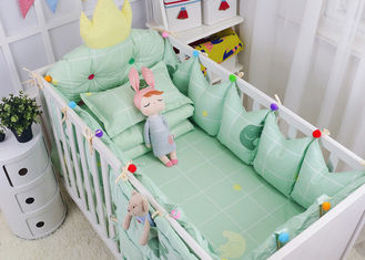 China Green Elephant Unique Girl Baby Bedding Sets 100% Cotton Bed Reducer Size Adjustable supplier