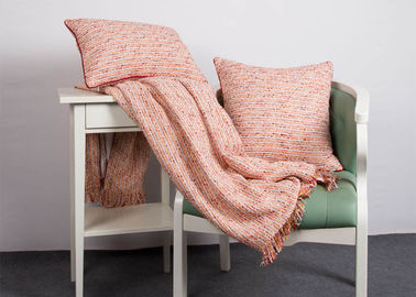 China 100% Polyester Woven Orange Cushion Covers , Elegant Indoor / Outdoor Throw Pillows supplier