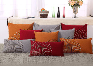 China 100% Linen Decorative Cushion Covers Free Style Pattern Embroidered Throw Pillows supplier