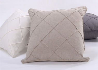 China Geometric Pattern Decorative Cushion Covers 100%  Linen For Bed / Chair supplier