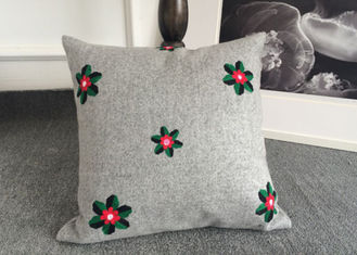 China Embroidered Elegant Decorative Cushion Covers 100% Cotton For Couch / Sofa supplier