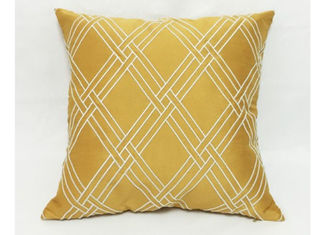 China Modern Style Decorative Sofa Pillows , Embroidered Geometric Throw Pillows supplier