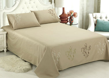 China Lightweight Fabric Luxury Sheet Sets / Duvet Covers Embroidered Cotton Sheets supplier