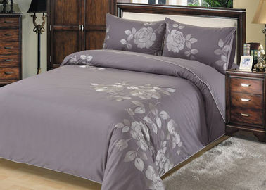China Fashion Embroidered Sheet Set , 4 Pcs Lightweight Fabric Bed Sheet Set supplier