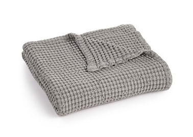 China Waffle Weave Cotton Couch Throw Blanket Super Soft Size / Logo Customized supplier