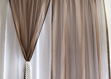 China Soft / Lightweight Fabric Dining Room Curtains 100% Polyester Dry Clean Only supplier