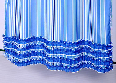 China Colorful Ruffle Bathroom Shower Curtains Waterproof Thickening 100% Polyester supplier
