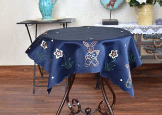 China Unique Square Decorative Table Cloths Chemical Fiber Multiple Colors Embroidered supplier