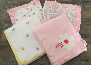 China Embroidered Ruffle Baby Sleep Cover , Luxury Cotton Bedding Sets For Baby Cribs supplier