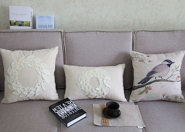 China Country Style Patchwork Decorative Throw Pillows Handmade Color Customized supplier