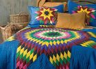China Geometric Design Handmade Bedding Sets , 100% Cotton Colorful Bedding Sets factory
