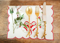 Embroidered Personalized Fashion Gifts Plain Style Decor Christmas Table Napkins