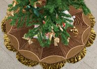 China Customized Modern Christmas Tree Skirt , Polyester / Velvet Christmas Tree Skirts company