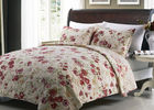 China White Quilted Bedspreads And Coverlets 3pcs Printed Machine Quilting company