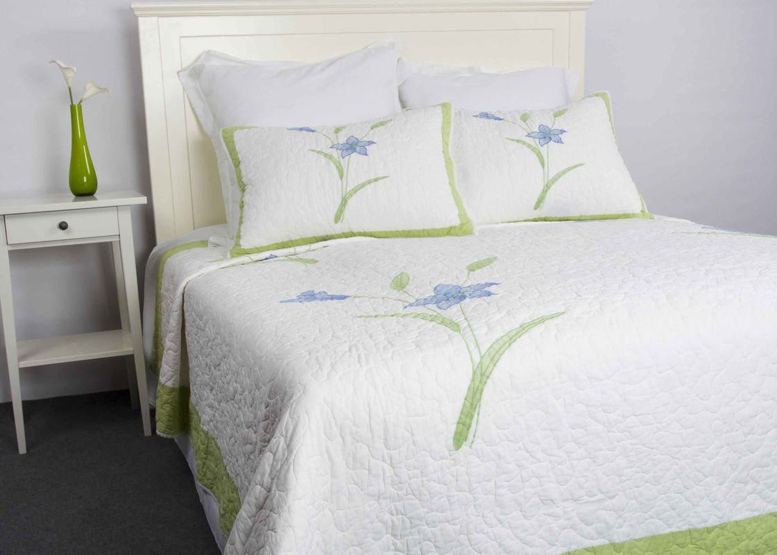 Freestyle Queen Size Bedspreads 3pcs Embroidery Patchwork Quilt Bedspread