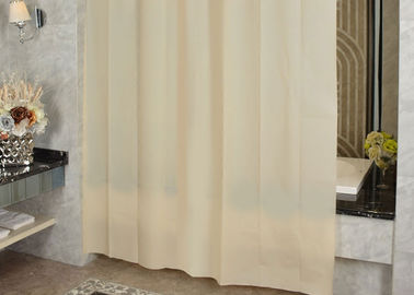 Ivory Shading Beautiful Shower Curtains Color Customized Mildewproof / Greaseproof