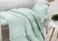 Size Adjustable 5 Pcs Modern Crib Bedding Sets Double Gauze / Cotton Ruched