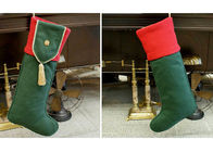 Plain Style Personalized Fashion Gifts Polyester Patchwork Christmas Stocking
